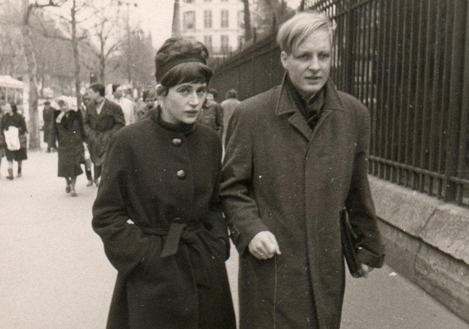 bernhard und christine waldenfels 1961 in paris auf dem weg zu einer merleau-ponty-veranstaltung